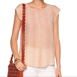 Joie 100% silk, blush blouse
